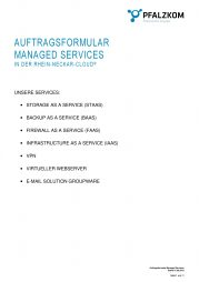 Auftragsformular Managed Service