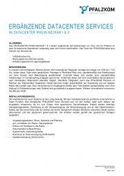 Ergänzende Datacenter Services (deutsch)
