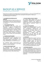 Leistungsbeschreibung Backup as a Service (BaaS)