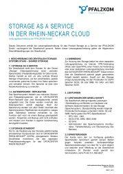 Leistungsbeschreibung Storage as a Service (StaaS)