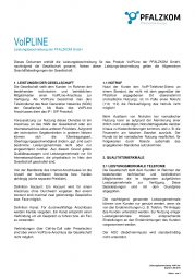 Leistungsbeschreibung VoIPLine