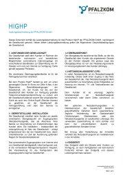 Leistungsbeschreibung HighP (Internet)