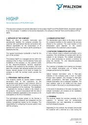 Service Description HighP (english)